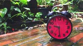 contagem regressiva : Time lapse of a Clock speeding up on rainy day Stock Footage