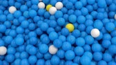 детский сад : Large Blue and yellow ball pool playground Стоковые видеозаписи