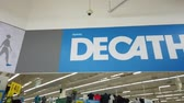 Bangkok, Thailand - 2019 March 31: The first Decathlon sport outlet has open in RAMA IV road, Bangkok.