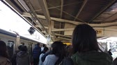 várakozás : KAMAKURA, JAPAN - 2019 March 21: People are getting off the train at Kamakura Shi Station.