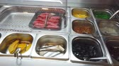 キャンディー : Empty Buffet Meat and vegetable self service tray