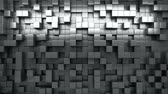 króm : 3D rendering. Black and white extruded cubes. Abstract background. Loop.