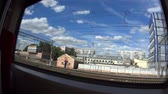 The view from the window of a train in Moscow, Russia