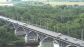 Bridge in Vladimir, Russia Stock Footage