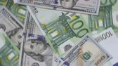 Rotating Money Euro Dollars Stock Footage