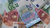 Rotating Money Euro Stock Footage