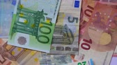mortgage crisis : Euro Banknotes Back Side Rotating
