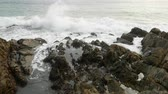 rozdrtit : sea wave hit the rock shore seascape