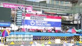 expression : BANGKOK, THAILAND - FEBRUARY 2014: Bangkok shutdown protests Stock Footage