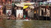 colorful : VARANASI, INDIA - MAY 2013: Everyday scene by Ganges River