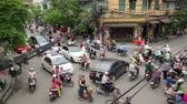 vista : HANOI, VIETNAM - MAY 2014: crazy motorbike traffics
