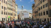 vista : ROME - ITALY, AUGUST 2015: spanish square view
