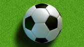 arremesso : The rolling soccer ball on the field. Loop-able and seamless animation Vídeos