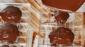 tasteful : Preparation of dark chocolate bars made from scratch using cocoa butter and sugar Stock Footage