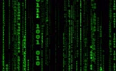 encoded : Digital binary data, streaming code background. Matrix background. Programming  Coding  Hacker concept. Cyberspace with green digital falling lines, abstract background, binary chain. Crypto space.