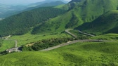 kyushu : Drive of the meadow in August. Yufu mountain drive of Oita in Japan.