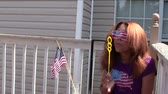 Patriottische Bubbles Stockvideo