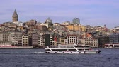 turečtina : TURKEY, ISTANBUL - DECEMBER 2, 2017: View of the Golden Horn - bay of Bosphorus