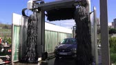 mechanized : ISTANBUL, TURKEY - MARCH 11, 2018: New automatic car wash Stock Footage