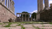 pilares : Ruins of Pergamum, ancient ruins, Trajan Temple, Turkey, Bergama Stock Footage