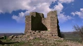 classic architecture : Assos (Behramkale) museum, the ruins of an ancient acropolis,  Turkey Stock Footage