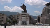 Monument of Alexander the Great on the square in the city center,  June 5, 2015, Macedonia, Skopje
