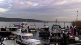 Fishing Boats, Bosphorus. 23.12.2013, Turkey, Istanbul