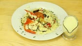 meal : Couscous with stewed vegetables Stock Footage