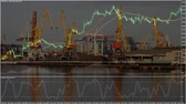 heavy : Diagram on background of the port Stock Footage