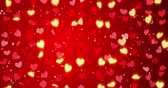 carmesim : Red hearts. Happy Valentines day seamless loop background.. Stock Footage