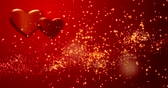 carmesim : Red hearts. Happy Valentines day background.
