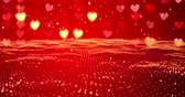 marry : Red hearts. Happy Valentines day background. 3D rendering.