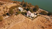 filistin : Orthodox Church of the 12 apostles. Sea of Galilee. Capernaum. Aerial view
