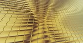 stoffmuster : gold foil tiles texture background 3D rendering