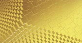 stoffmuster : Abstract geometric golden backgroundfoil tiles texture seamless loop background 3D rendering