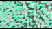 箔 : Abstract green 3D geometric pattern. Mosaic metall background. New year texture. 3D animation loop 動画素材