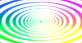 fluoreszkáló : Abstracts rainbow spiral psihodelic tunnel background. Seamless loop 4k animation. Virtual reality future design 3d render.