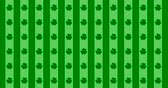 İrlanda : Patrick Day background with falling shamrock leaf pattern. For festive pub party. 3d render, loop 4k