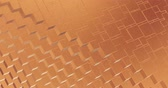 Abstract geometric rose golden backgroundfoil tiles texture seamless loop background 3D rendering