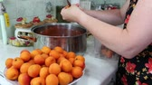 przetwory : In the Polish kitchen. Preparing a delicious apricot jam.