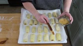 In the Polish kitchen. Preparing a delicious special polish dish, cabbage cookies.