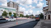инфраструктура : Repair urban roads. Shooting in timelapse mode.