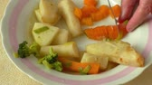 kereviz : Chopped vegetable prepared for soup cooking