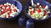 фета : Salad with cherry tomatoes and goat cheese with diced