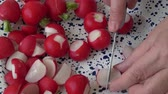 группа объектов : Fresh sliced radish ready for cooking