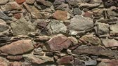 castello : Old castle stone wall.Texture of a stone wall Filmati Stock