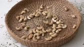 Roasted cashew nuts in basket