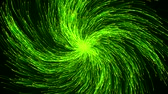 magical energy particles swarm. vortex form. green version.