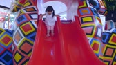 children playground : Asian little girl playing slider in playground Stock Footage