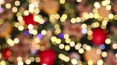 celebration : Festive bokeh made of Christmass tree decorations